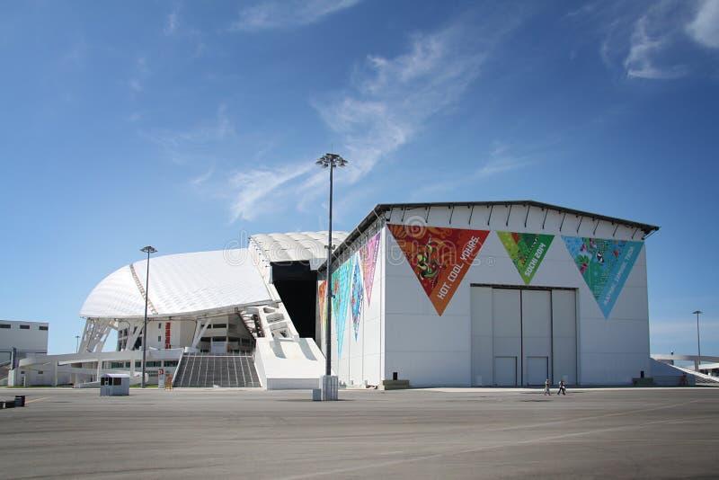 Fisht Olimpijski stadium przy zim olimpiadami XXII zdjęcie royalty free