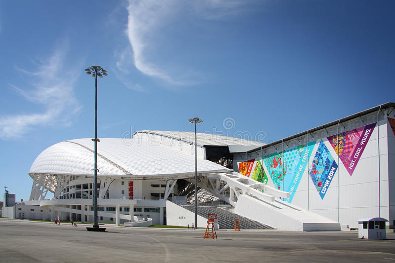 Fisht Olympic Stadium at XXII Winter Olympic Games stock photography
