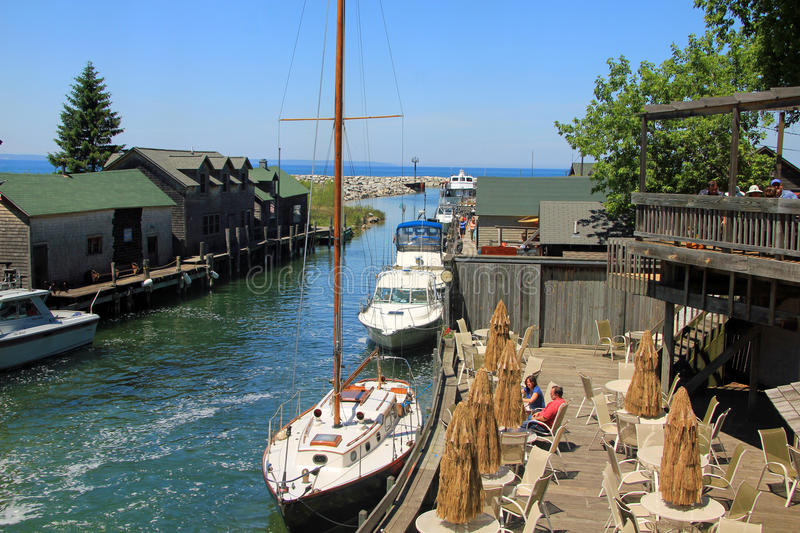 Fishtown dans Leland, Michigan photos libres de droits