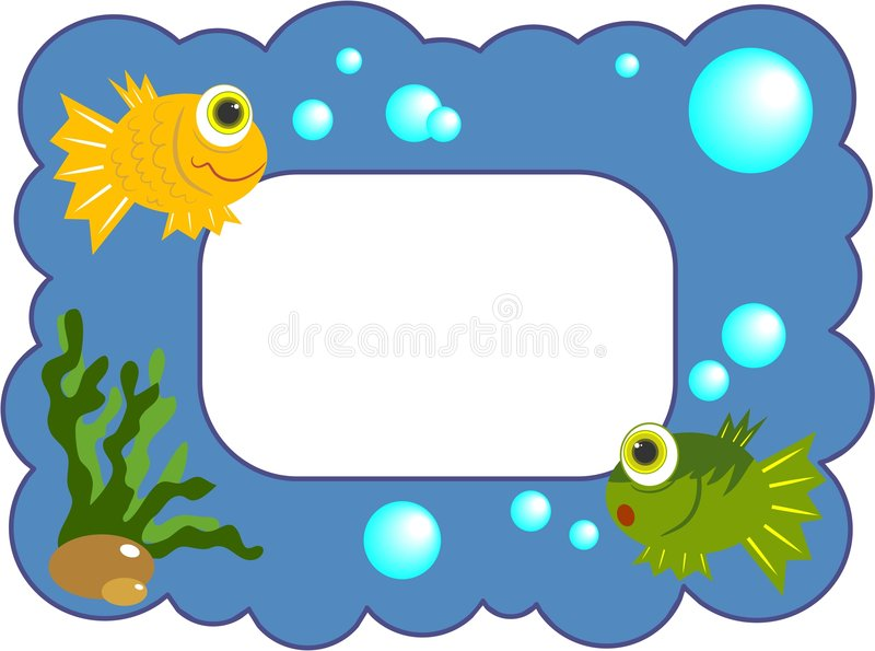 Download Fishy Frame stock illustration. Image of backgrounds, clipart - 90261
