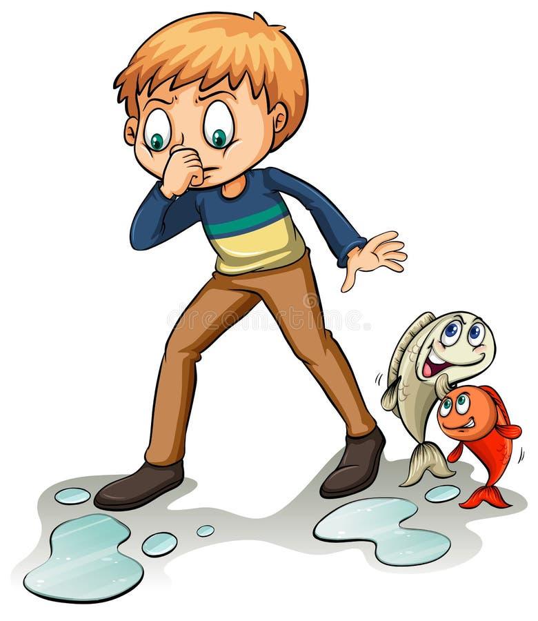 Fishy idiom ilustracja wektor