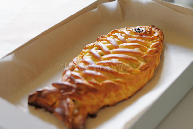Fishy kulebiak fotografia stock