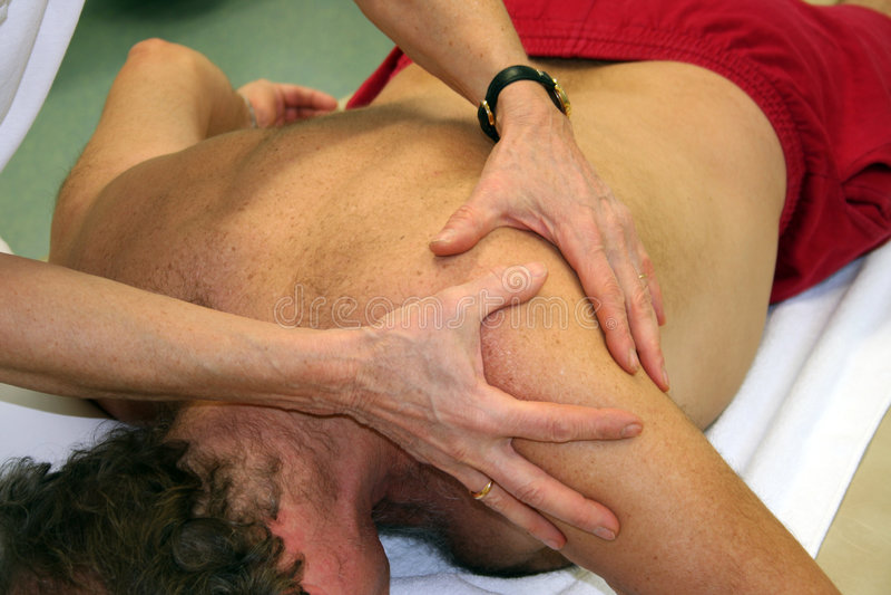 Fisioterapista fotografie stock