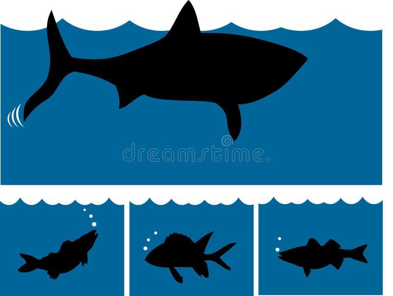 fisk 2 vektor illustrationer
