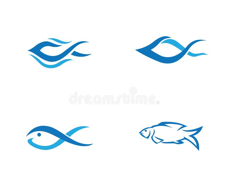 Fisk Logo Template vektor illustrationer