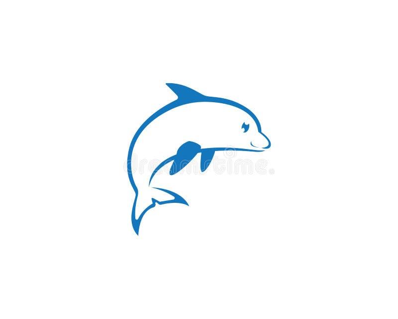 Fisk Logo Template royaltyfri illustrationer