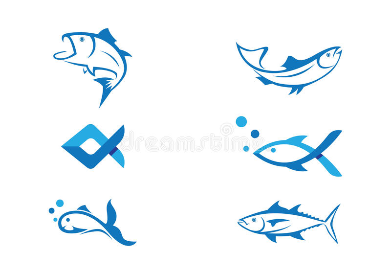 Fisk Logo Template stock illustrationer