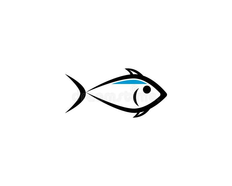Fisk Logo Template stock illustrationer