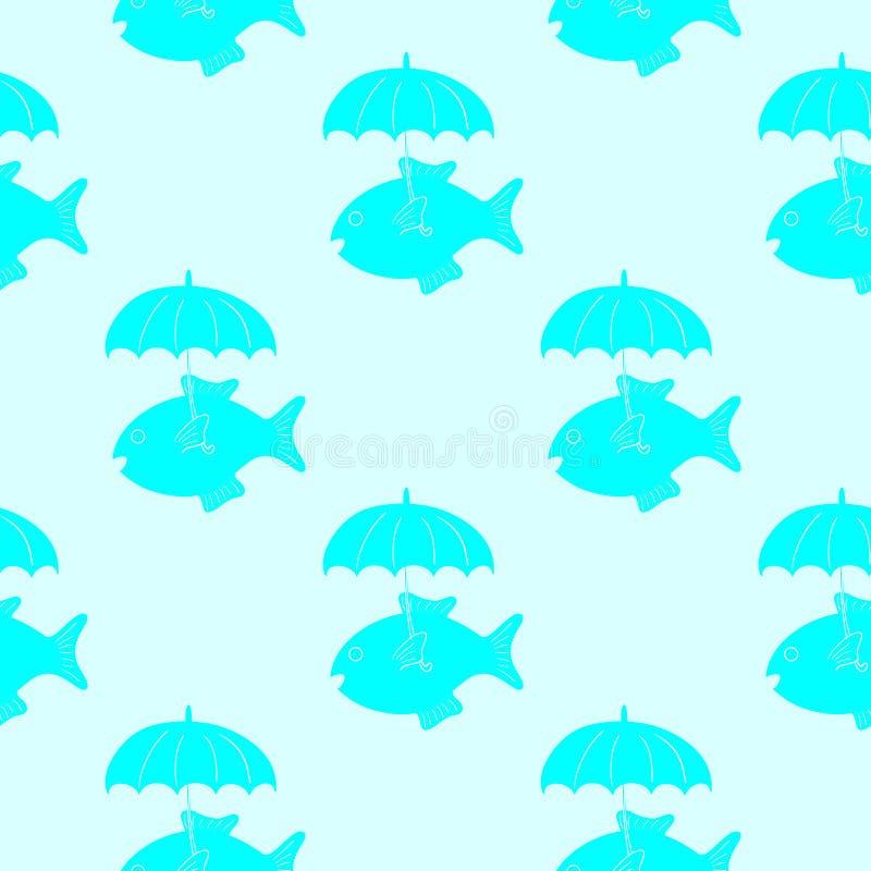 Fisk med paraplymodellen vektor illustrationer
