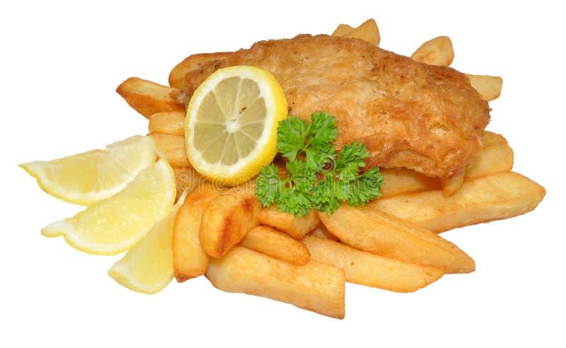 Fisk och chiper fotografering för bildbyråer