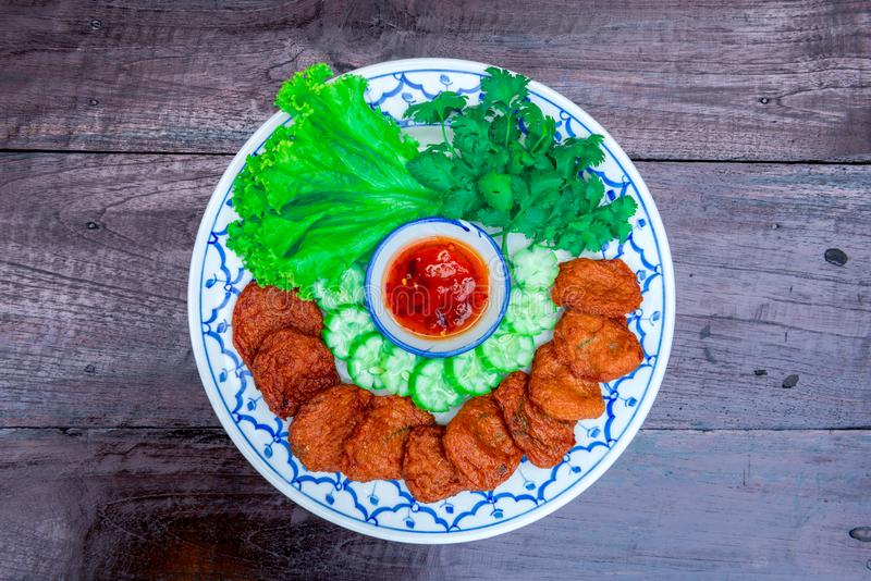 fisk stekt liten pastej royaltyfri fotografi
