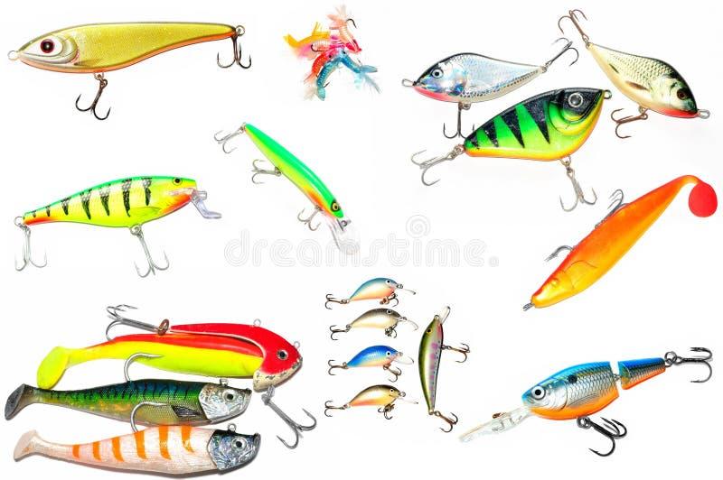 fiska dragwobbler arkivbild