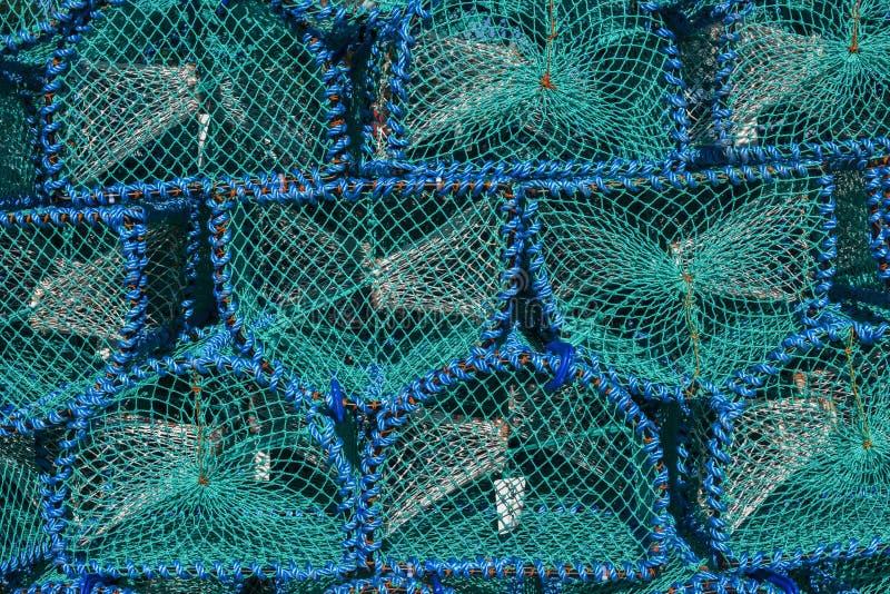 Fiska fälla för hummer- och krabbafiske på ön av Mull, abstrakt begreppmodellen, bakgrund, Skottland royaltyfri foto