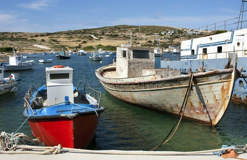 fiska för fartyg royaltyfria foton