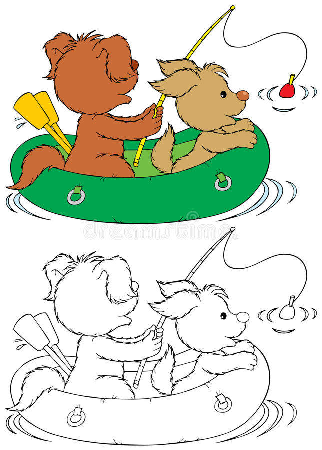 fiska för hundar royaltyfri illustrationer