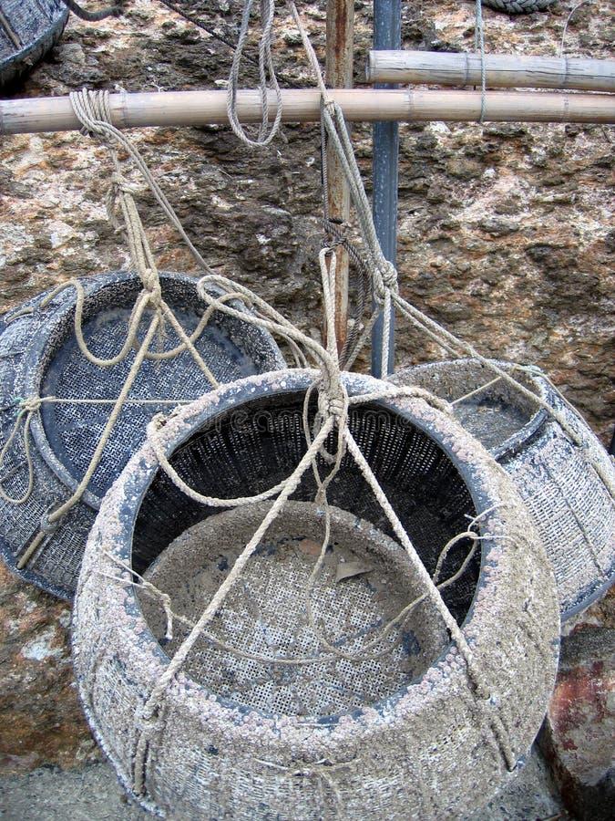 fiska för korgar arkivbilder