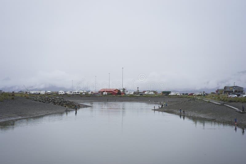 Fiska hålet Homer Alaska royaltyfri foto