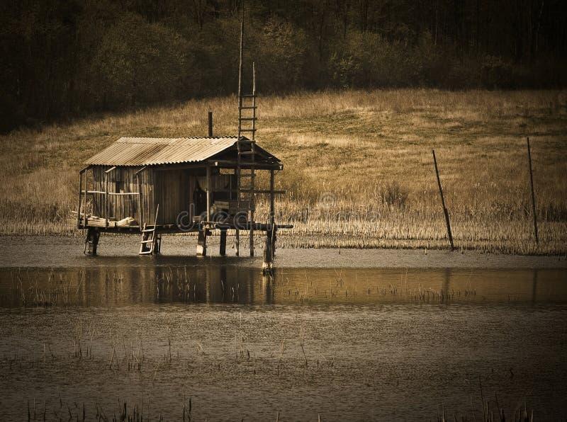 Fiska huset Jaga huset arkivbild