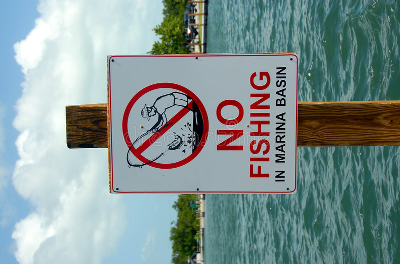 fiska inget tecken royaltyfri foto
