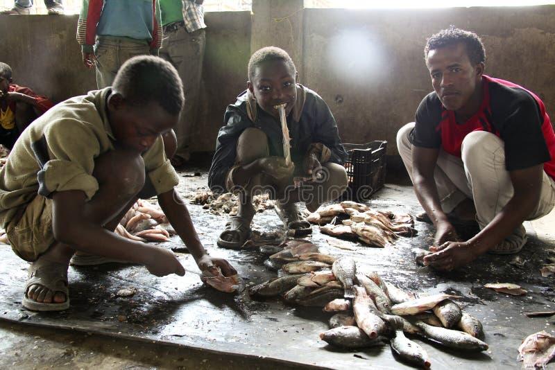 fiska marknaden arkivbild