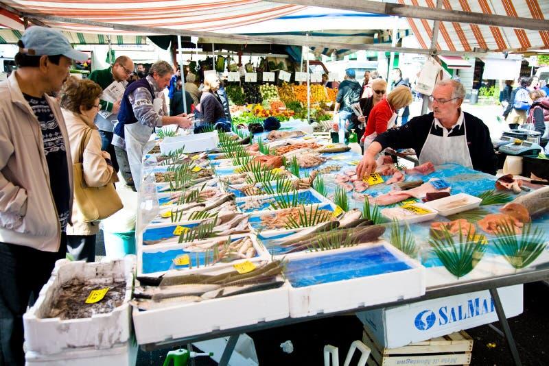 fiska marknaden royaltyfri fotografi