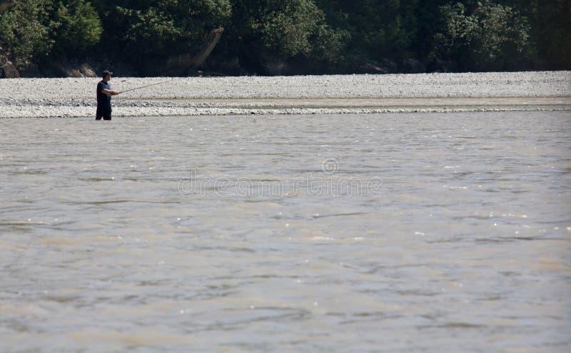 Fiska på Fraser River arkivfoto