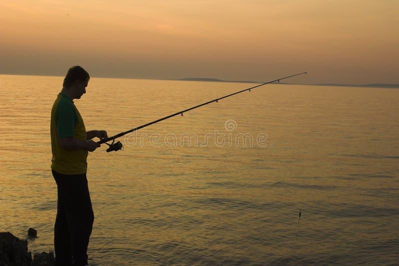 fiska sent fotografering för bildbyråer
