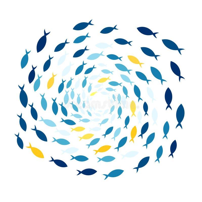 fiska skolan vektor illustrationer