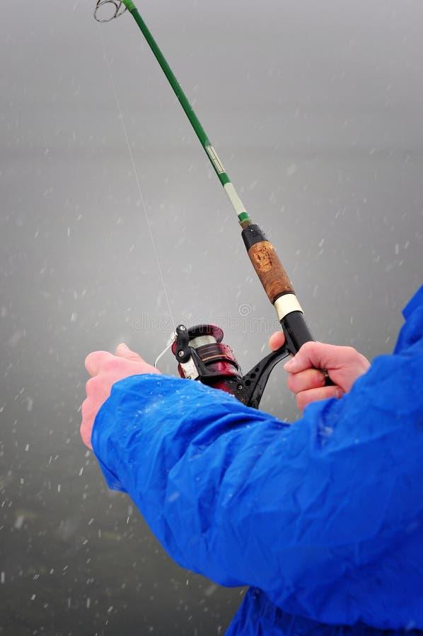 fiska vinter royaltyfri fotografi