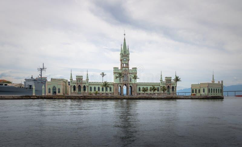 Fiskalna wyspa Rio De Janeiro, Brazylia - Ilha Fiskalny w Guanabara zatoce - zdjęcia royalty free