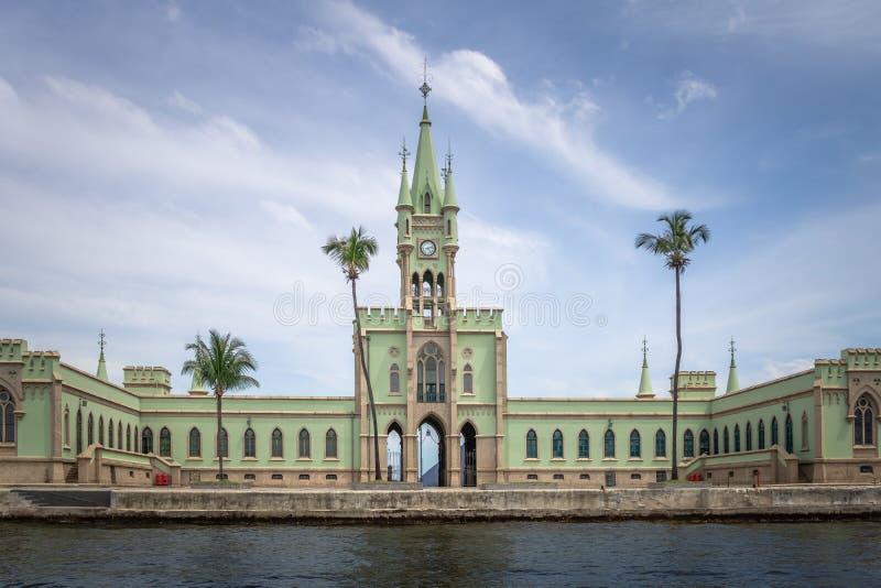 Fiskalna wyspa Rio De Janeiro, Brazylia - Ilha Fiskalny w Guanabara zatoce - obrazy royalty free