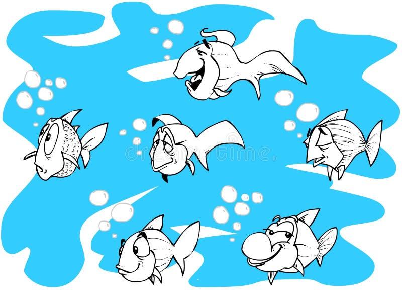 fiskar stock illustrationer