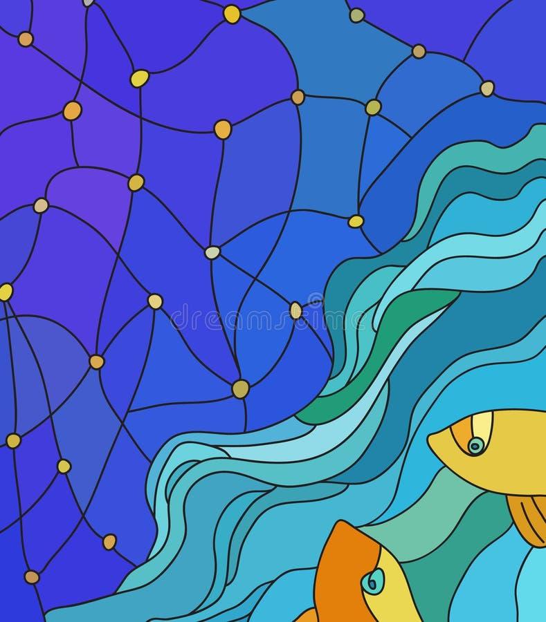 Fiskar som ser himlen arkivfoton