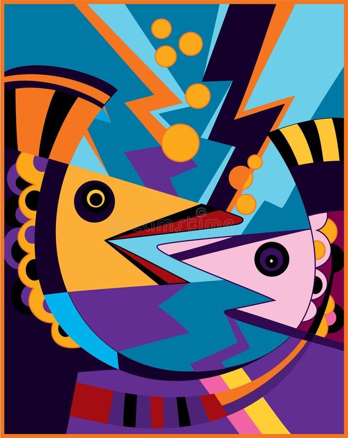 fiskar som talar två stock illustrationer