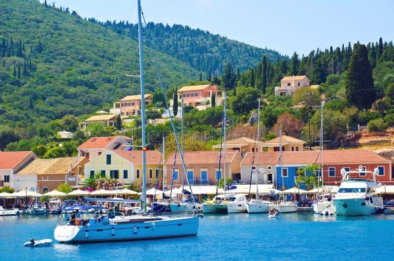 Fiskardo, isla de Kefalonia, Grecia imagen de archivo libre de regalías