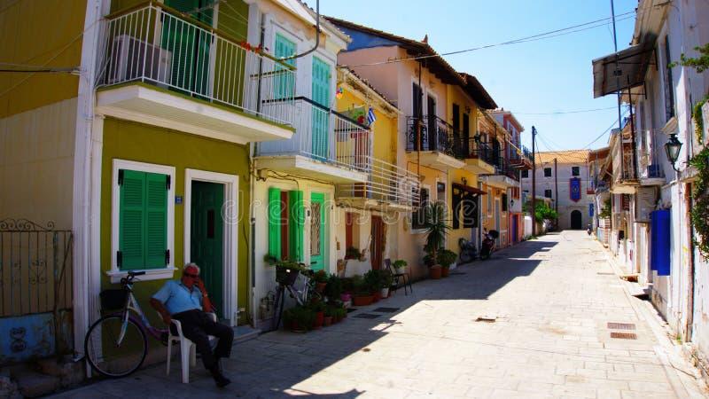 Fiskardo sull'isola di Kefalonia in Grecia immagini stock libere da diritti
