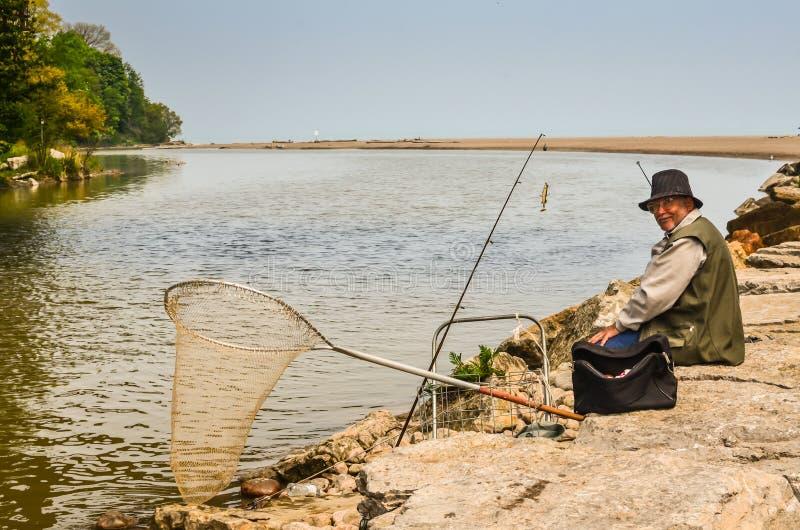 Fiskare - Toronto Kanada royaltyfri foto