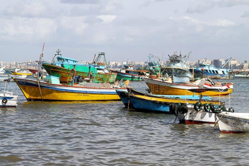 fiskarehamn royaltyfri fotografi