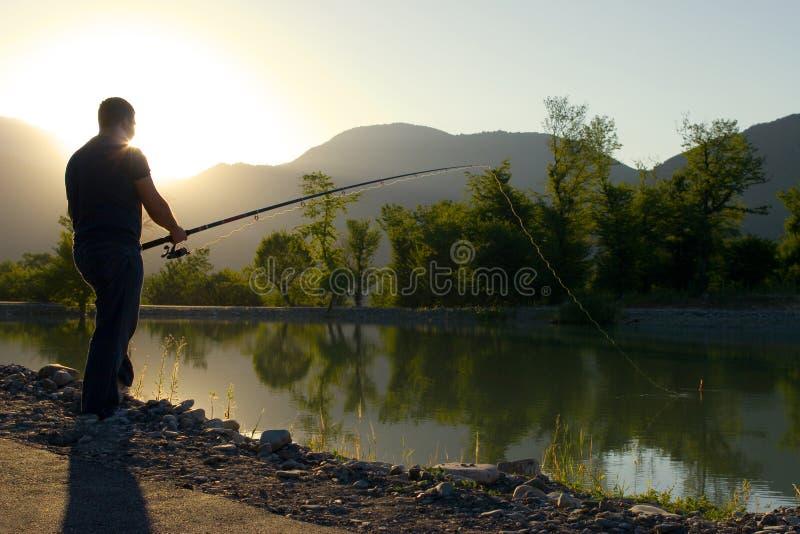 fiskarelake royaltyfri fotografi