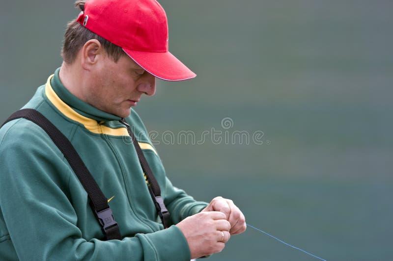 Fiskarestående royaltyfri fotografi