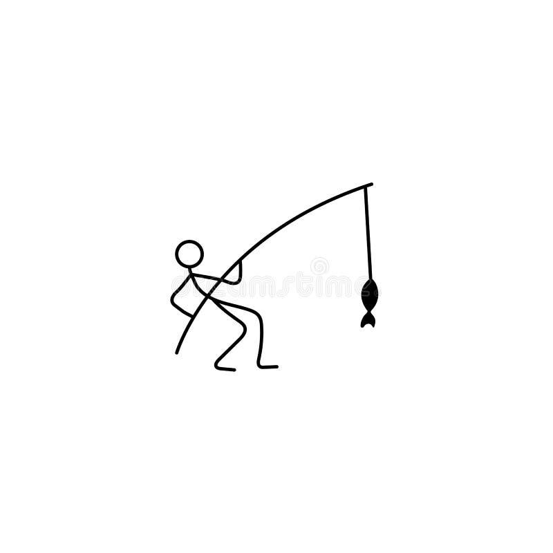 Fiskaresymbolsvektor vektor illustrationer