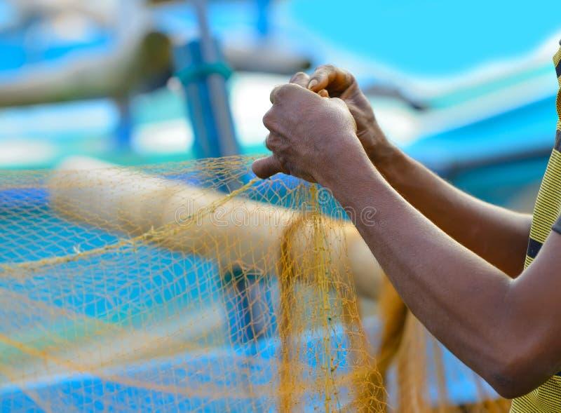Fiskareuppsättningar av fiske utrustar fotografering för bildbyråer