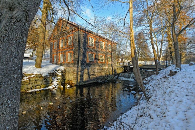 Fiskars by i Raseborg, Finland arkivbilder
