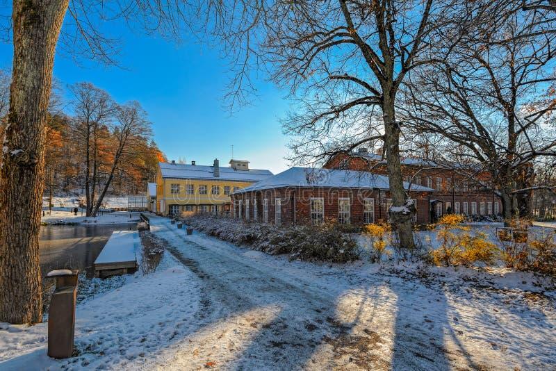 Fiskars by i Raseborg, Finland fotografering för bildbyråer