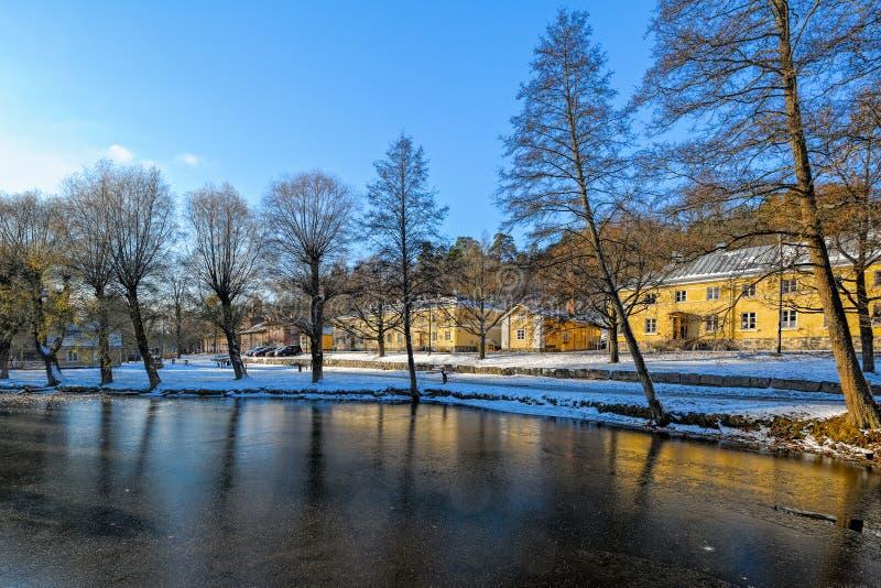 Fiskars by i Raseborg, Finland royaltyfri bild