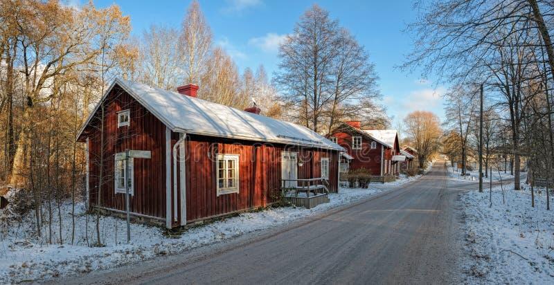 Fiskars by i Raseborg, Finland arkivbild
