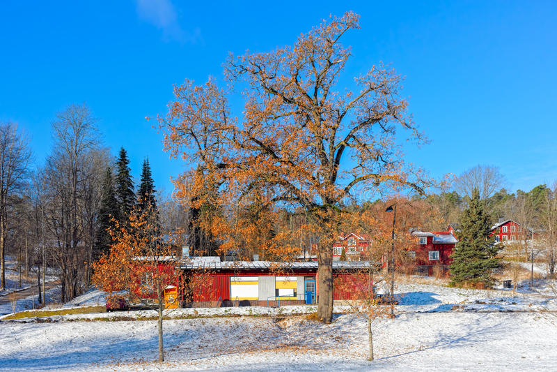 Fiskars by i Raseborg, Finland royaltyfria bilder