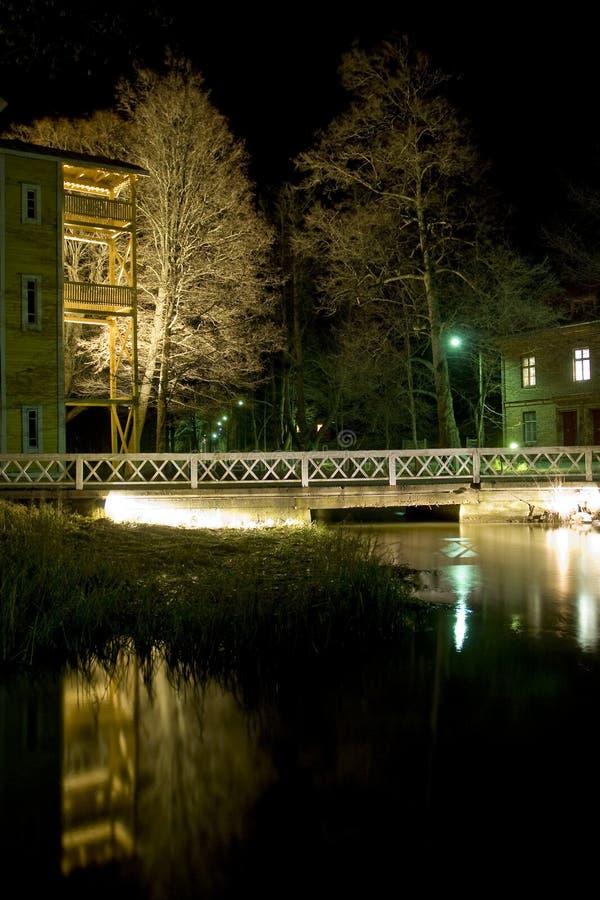 fiskarsnattby royaltyfria foton