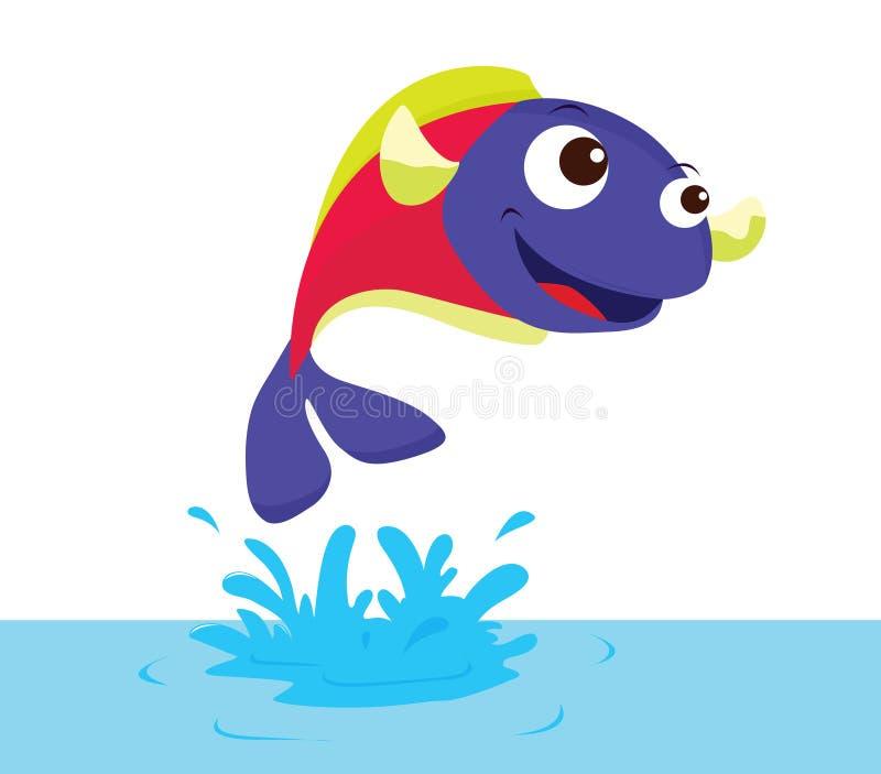 fiskbanhoppning royaltyfri illustrationer