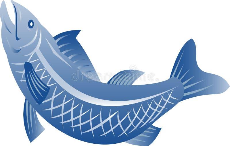 fiskbanhoppningforell royaltyfri illustrationer